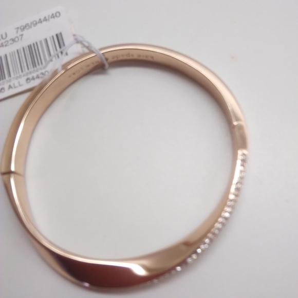 Kate Spade New Rose Gold Rhinestone Bracelet